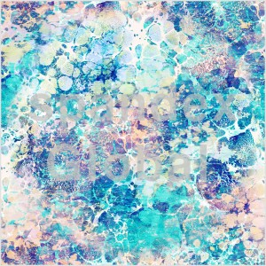 Abstract Blue Watercolour Print