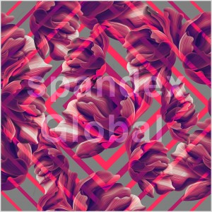 Abstract Red Floral Pattern