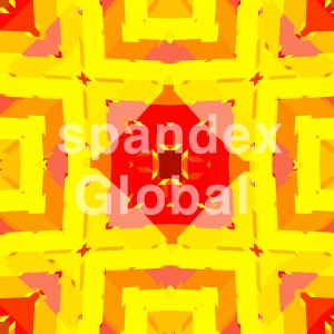 Abstract Yellow Red Square