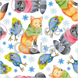 Cute Animals in Winter Accessories
