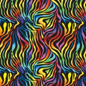 Rainbow Zebra Print Spandex