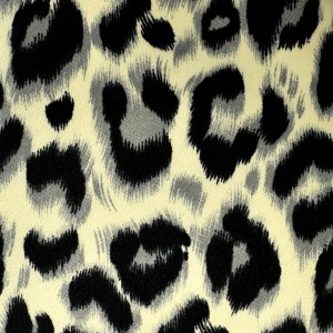 Wild Leopard Pattern Crepe De Chine