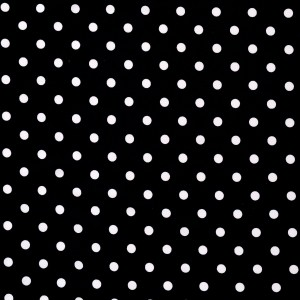 3.3mm White Polka Dot Print Spandex