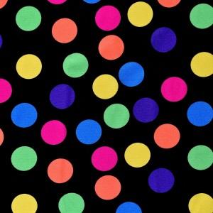 Large Multi Colored Circus Dot Print Spandex