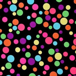 Multi Colored Circus Dot Print Spandex