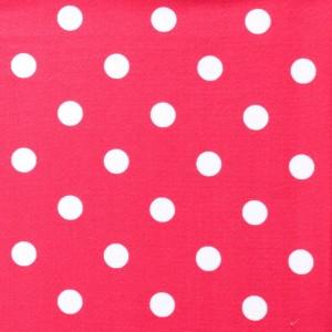 Pink and White Polka Dot Print Spandex