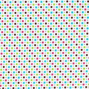 Retro Polka Dot Print Spandex