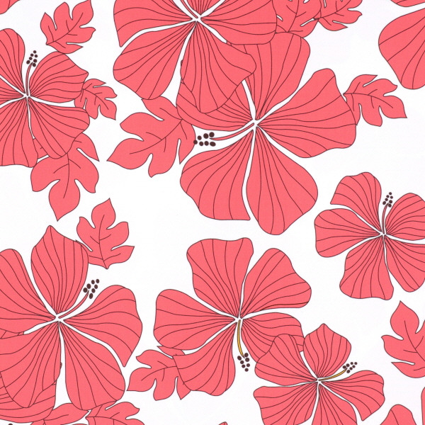 Elegant Hibiscus Flower Print Spandex
