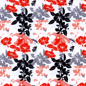Vintage Hawaiian Floral Print Spandex