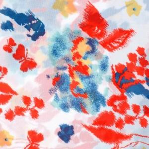 Watercolor Spring Garden Print Spandex