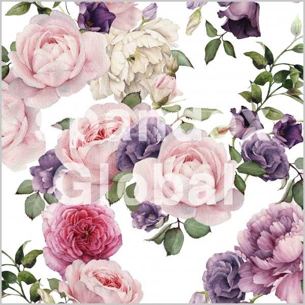 Watercolour Floral Print