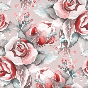 Watercolour Rose Pattern