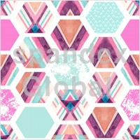 Abstract Hexagonal and Triangular Pattern
