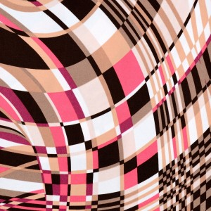 Geometric Tunnel Print Spandex