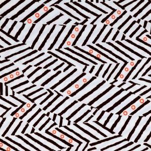Hand Drawn Geometric Lines Print Spandex