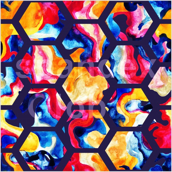Hexagonal Paint Pattern