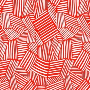 Interweaving Lines Print Spandex