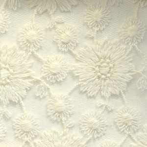 Cotton Daisy Flower Embroidery Lace