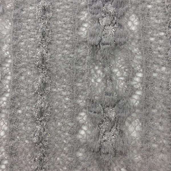 Linear Floral Crochet Lace Spandex
