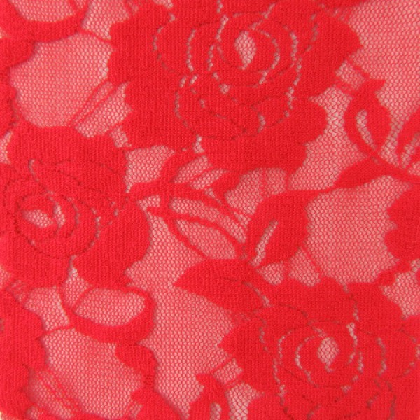 Rose Patterned Nylon Lace Spandex