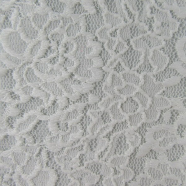 Floral Embroidered Mesh Spandex