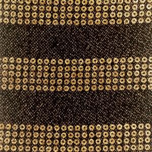 18mm Metallic Horizontal Stripe Mesh