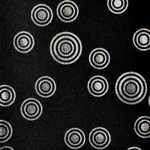Metallic Retro Circle Pattern Spandex