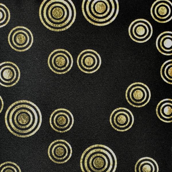Metallic Retro Circle Pattern Spandex