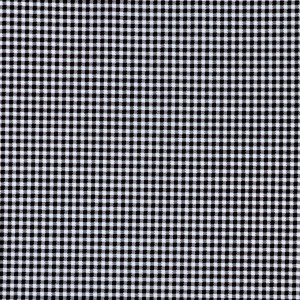 3mm Black Gingham Print Spandex