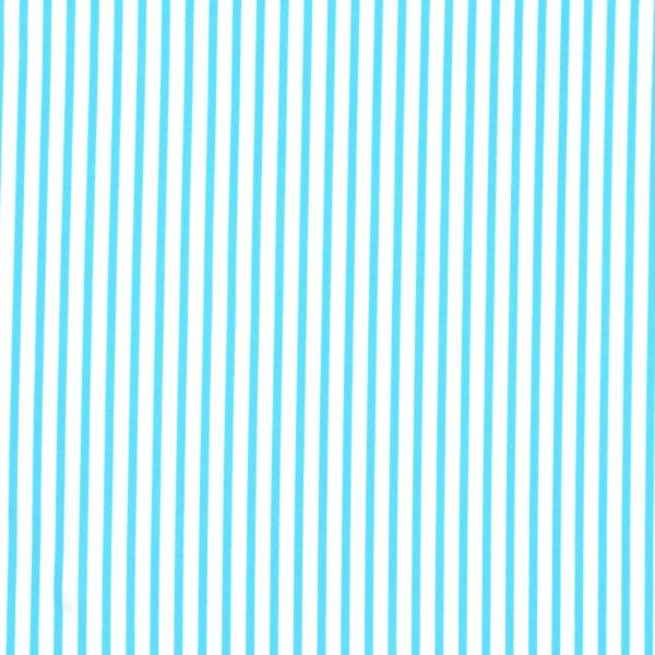 3mm Cyan Stripe Print Spandex
