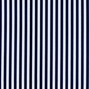 8mm Dark Blue Stripe Print Spandex