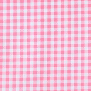 8mm Pink Gingham Print Spandex