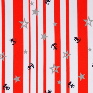 Anchor and Star Stripe Print Spandex