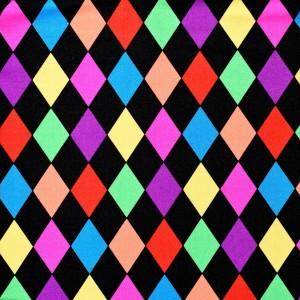 Multi Colored Diamond Print Spandex