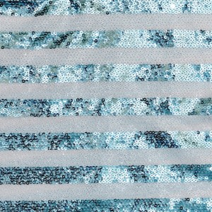 15mm Horizontal Stripe Pattern Sequins Mesh