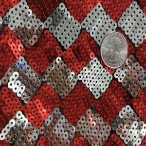 5mm Rectangular Design Sequin on Poly Spandex