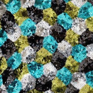 Fish Scale Pattern Sequins Mesh