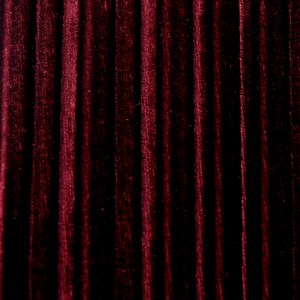 2 Color Pleated Solid Stretch Velvet