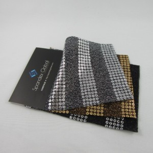 18mm Metallic Horizontal Stripe Mesh