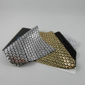 5mm Medium Metallic Circle Pattern Spandex