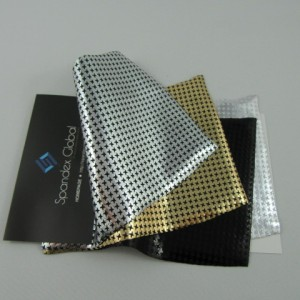 Metallic Houndstooth Pattern Spandex