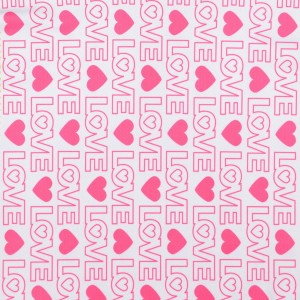 Heart and LOVE Letters Print Spandex