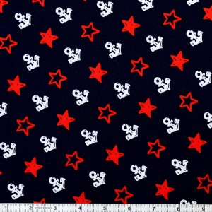 Large Anchor and Star Print Spandex