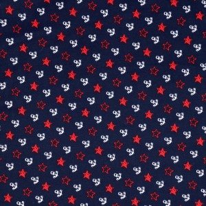 Small Anchor and Star Print Spandex